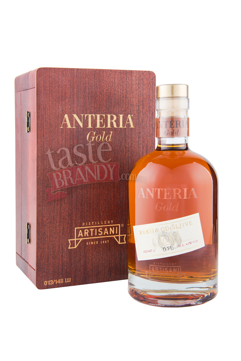 Plum Brandy ANTERIA GOLD 10 Years Old